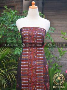 Bahan Kemeja Batik Latar Hitam Motif Tumpal Etnik