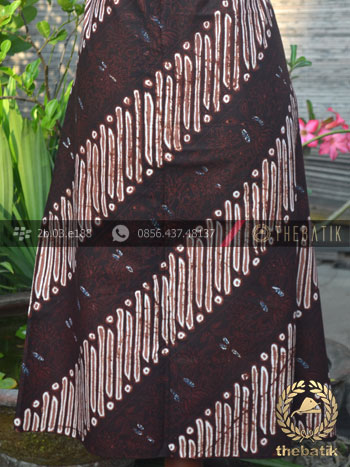 Bahan Batik Cap Tulis Jogja Motif Parang Srimpi Coklat