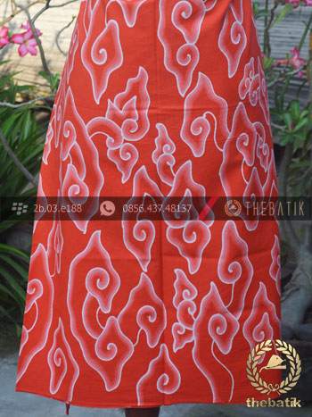 Bahan Baju Batik Tulis Megamendung Merah