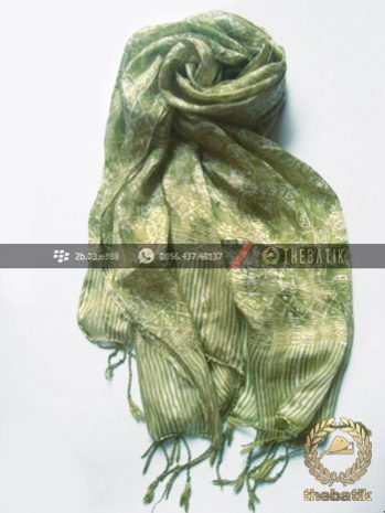 Selendang Batik Murah Grosir Warna Hijau Pupus