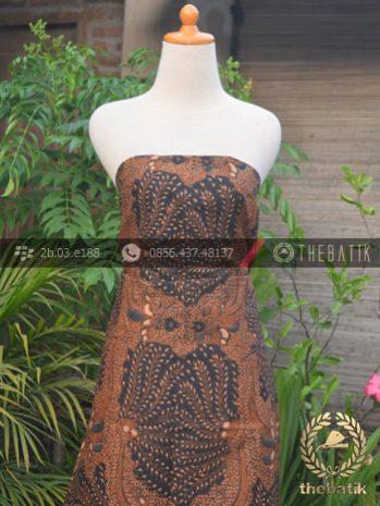 Kain Batik Solo Klasik Ceplok Padi Pari Soga Genes