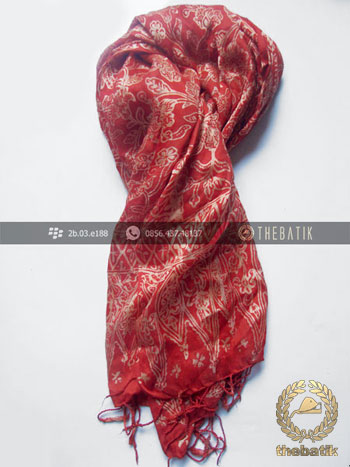 Selendang Batik Murah Grosir Warna Merah