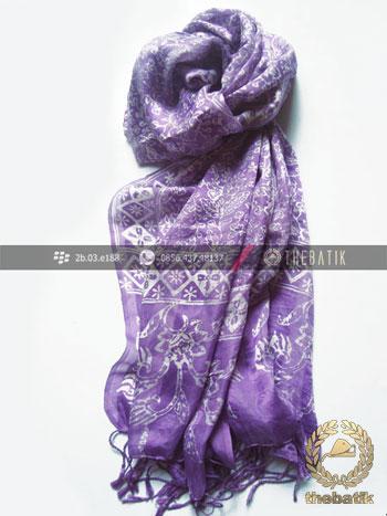 Selendang Batik Murah Grosir Warna Violet