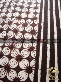 Bahan Kain Batik Motif Kawung Prabu Putih Garis