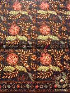 Bahan Baju Batik Kombinasi Tulis Kembang Klasik Coletan