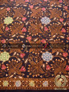 Bahan Baju Batik Kombinasi Tulis Bunga Klasik Coletan