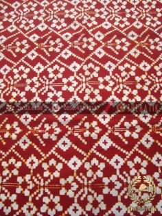 Kain Batik Modern Etnik Jogja Motif Cinde Klasik Merah