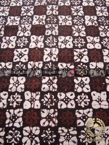 Kain Batik Klasik Jogja Motif Ceplok Matahari