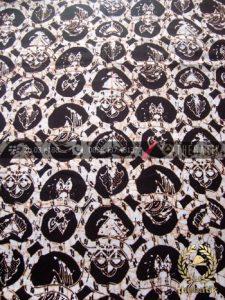 Kain Batik Klasik Jogja Motif Ceplokan Sayap Hitam