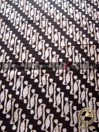 Kain Batik Klasik Jogja Motif Parang Rusak Latar Hitam
