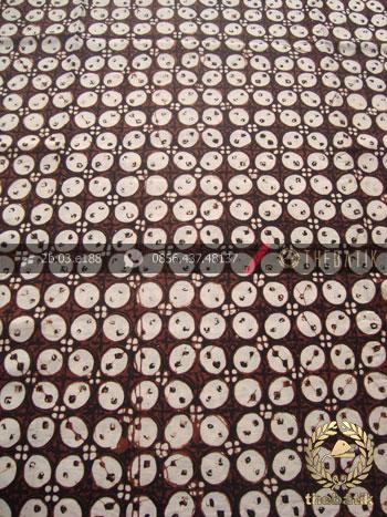 Kain Batik Klasik Jogja Motif Kawung Bulet Sogan