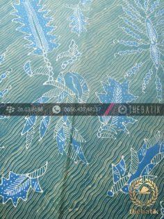 Batik Tulis Pewarna Alami Galaran Floral Hijau