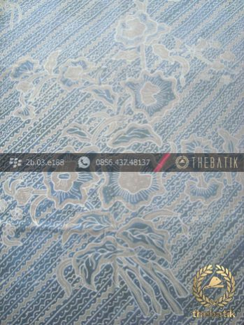 Batik Tulis Pewarna Alami Motif Lereng Buketan Indigo
