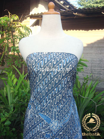 Batik Tulis Pewarna Alami Parang Buketan Indigo