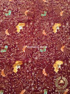 Kain Batik Coletan Motif Burung Marun