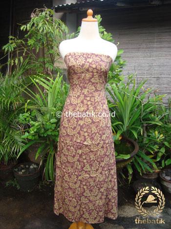 Kain Batik Katun Jepang Motif Floral Coklat Hijau