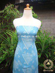 Kain Batik Katun Jepang Motif Kipas Biru Muda