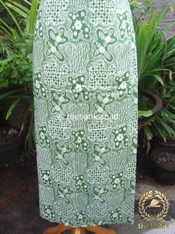 Kain Batik Katun Jepang Motif Sekarjagad Hijau
