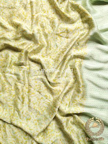 Batik Sutera Rok Bawahan Bahan Baju Kain Kebaya Atasan Hijau Pastel