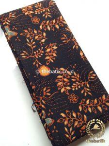 Kain Batik Cap Tulis Bahan Baju Motif Floral Hitam