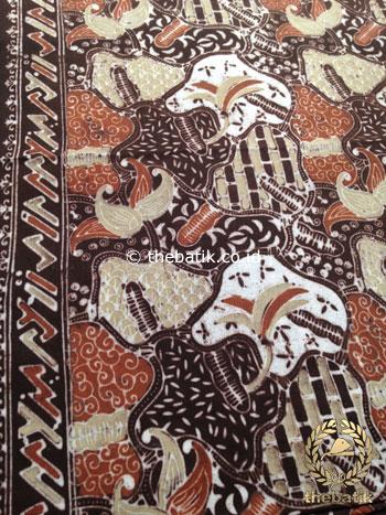 Kain Batik Warna Alam Motif Sekarjagad Baru