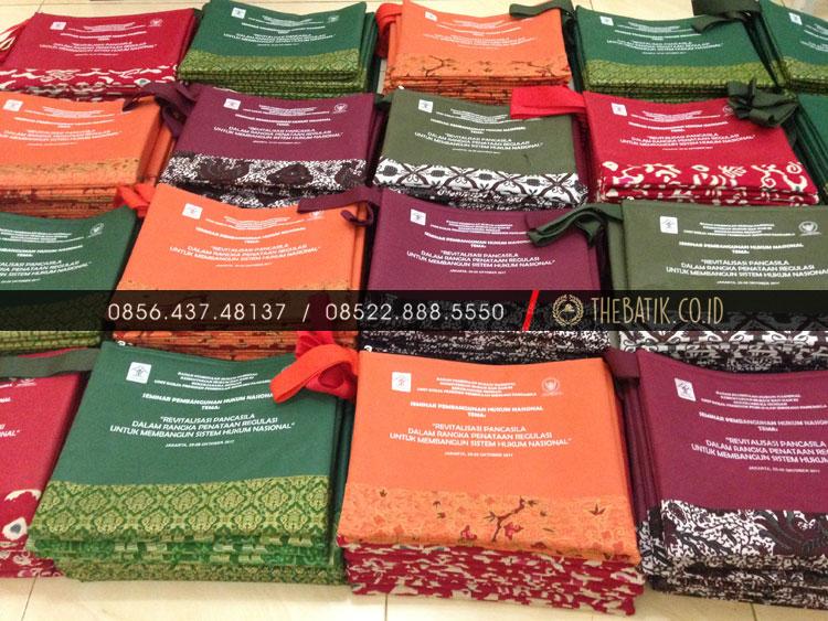 Souvenir Tas Map Seminar Portfolio Batik Unik