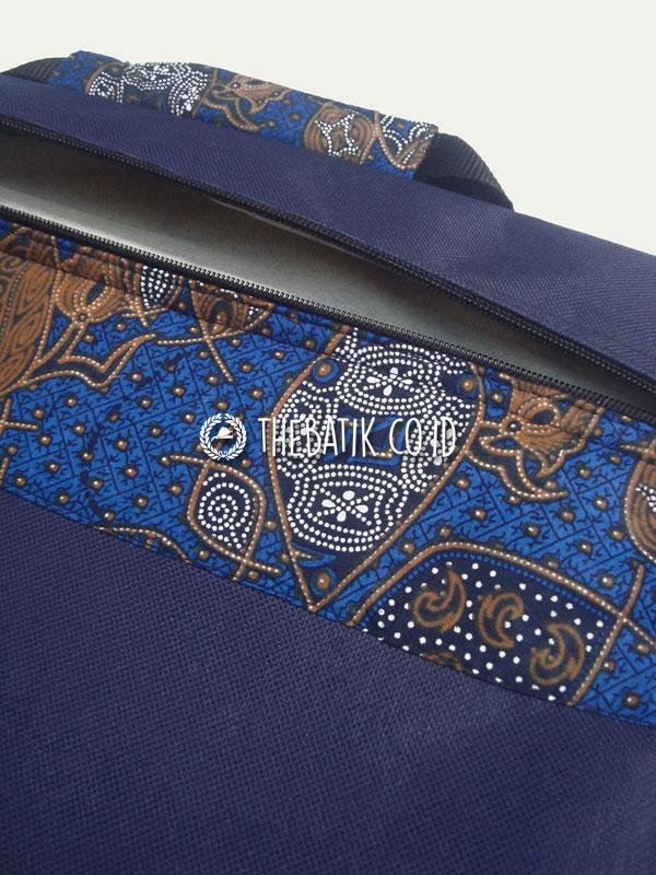 Souvenir Tas Map Seminar Dokumen Kanvas Batik