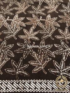 Bahan Kain Baju Batik Warna Alam Daun Jari