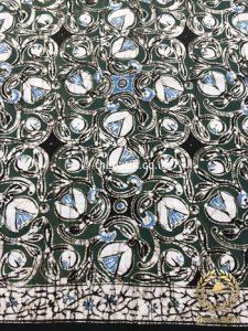 Bahan Kain Baju Batik Warna Alam Indigo Kembang Payung
