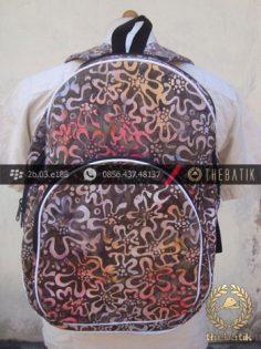 Tas Ransel Batik untuk Sekolah Bimbel atau Les Bahasa