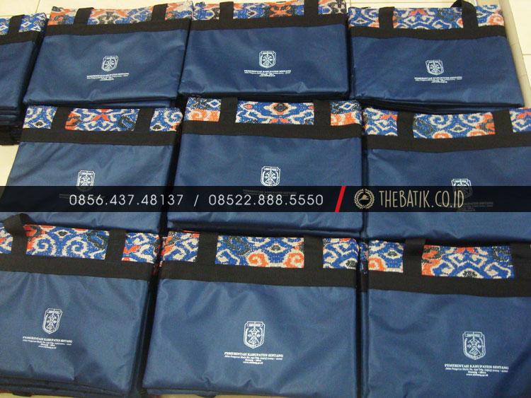 Souvenir Tas Diklat Seminar Kit Kombinasi Batik