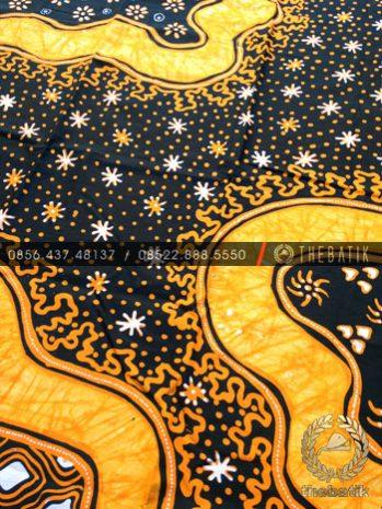 Kain Bahan Baju Batik Tulis Modern Kuning