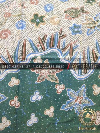Kain Bahan Baju Batik Tulis Warna Alam Biota Laut