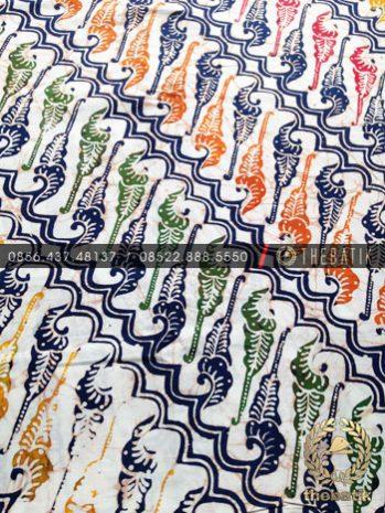 Grosir Kain Batik Seragam Coletan Biru Parang Barong Modern