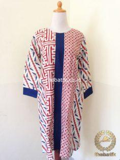 Model Baju Batik Wanita – Blus Batik Panjang Motif Kombinasi