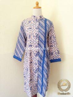 Model Baju Batik Wanita – Blus Batik Panjang Trikot