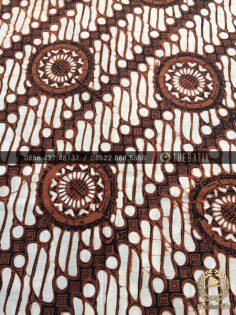 Kain Batik Jawa Klasik Motif Parang Seling Roda Sogan