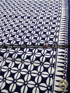 Batik Monokrom Motif Kopi Pecah Biru Dongker