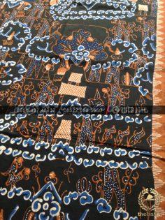 Batik Tulis Cirebon Motif Keraton Latar Hitam
