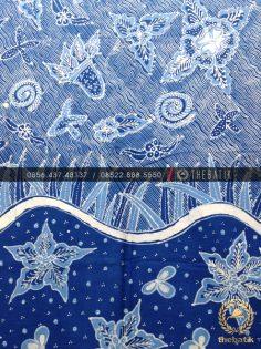 Batik Tulis Warna Alam Tema Biru Laut