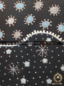 Batik Tulis Warna Alam Motif Ceplok Amoeba Hitam