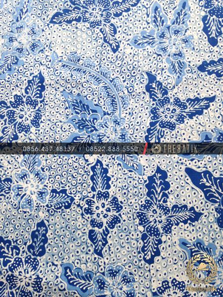 Batik Tulis Warna Alam Motif Gringsing Biru Indigo
