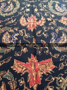 Bahan Baju Batik – Kain Batik Tulis Motif Semen Boketan Latar Hitam