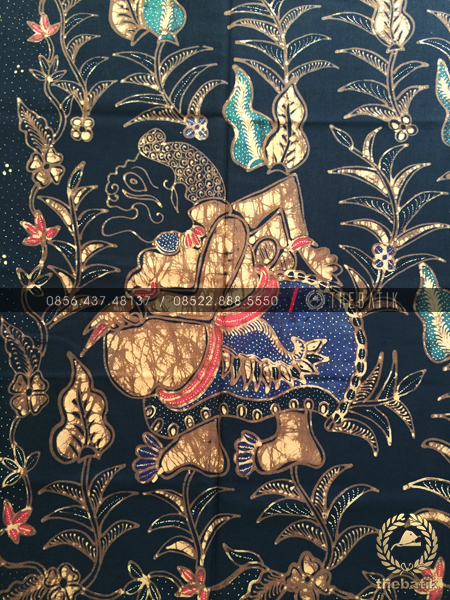 Bahan Baju Batik – Kain Batik Tulis Motif Wayang Semar Latar Hitam