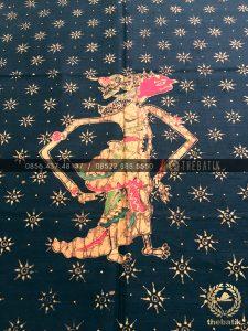 Bahan Blus Batik – Kain Batik Tulis Motif Wayang Srikandi Latar Hitam
