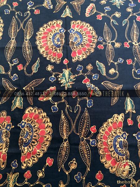 Bahan Kemeja Batik – Kain Batik Tulis Motif Babon Angrem Latar Hitam