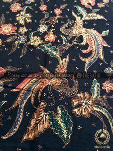 Bahan Baju Batik – Kain Batik Tulis Motif Burung Peksi Latar Hitam