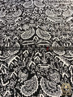 Kain Batik Tulis Jogja Motif Semen Romo Hitam