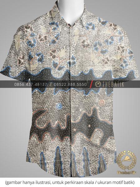 Kain Batik Tulis Warna Alam Kombinasi 3 Motif