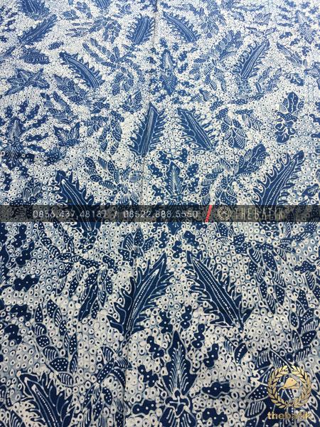 Kain Batik Tulis Warna Alam Pakis Haji Latar Putih
